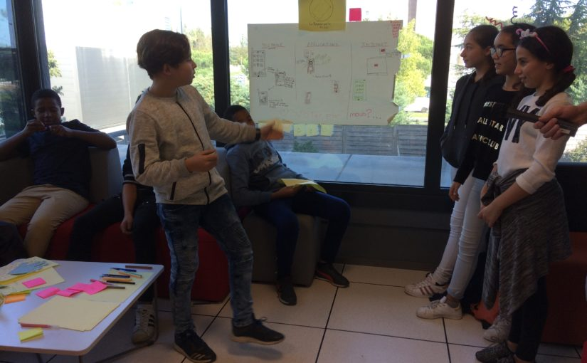 Journée d'idéation avec des élèves de 5ème